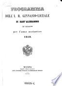 Programma dell i  regio ginnasio liceale di Sant  Alessandro in Milano