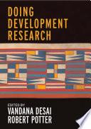 Doing Development Research