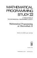 Mathematical Programming At Oberwolfach Ii book