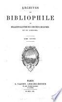 Archives du bibliophile