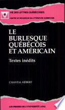 Le burlesque québécois et américain