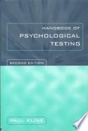 The Handbook of Psychological Testing