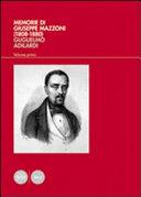Memorie di Giuseppe Mazzoni  1808 1880