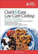 The Quick   Easy Low Carb Cookbook for People with Diabetes