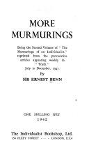 More Murmurings