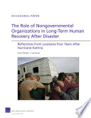The Role of Nongovernmental Organizations in Long Term Human Recovery After Disaster