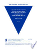 An ex post impact assessment of IFPRI s GRP22 program  Water Research Allocation