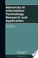 Advances in Information Technology Research and Application  2013 Edition