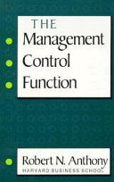The Management Control Function