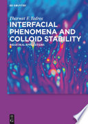 Interfacial Phenomena and Colloid Stability