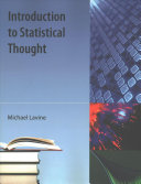 Introduction To Statistical Thought book