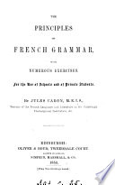 The principles of French grammar   With  Key