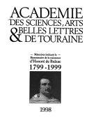 M  moires incluant le bicentenaire de la naissance d Honor   de Balzac  1799 1999