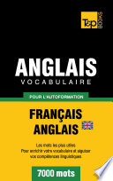 Vocabulaire Fran  ais Anglais britannique pour l autoformation   7000 mots