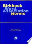 Birkbeck Word Association Norms