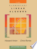 Elementary Linear Algebra  Applications Version  11th Edition