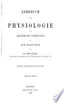 Lehrbuch der Physiologie f  r akademische Vorlesungen und Selbststudium