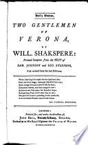 Two Gentlemen Of Verona : ...