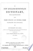 A new English Hindustani dictionary  by S  W  Fallon assisted by Faqir Chand and others