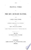 The practical works of ... Richard Baxter, with a life of the author and a critical examination of his writings by W. Orme Pdf/ePub eBook