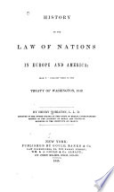 History of the Law of Nations in Europe and America