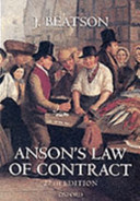 Anson s Law of Contract