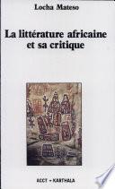 Littérature africaine et sa critique