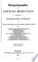 Encyclographie des sciences m  dicales