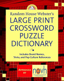 Random House Webster s Large Print Crossword Puzzle Dictionary