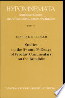 Studies on the 5th  fifth  and 6th  sixth  Essays of Proclus  Commentary on the Republic