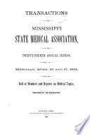 Transactions of the Mississippi State Medical Association