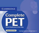 Complete PET. Student's Book with Answers and CD-ROM
