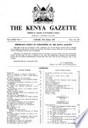 Kenya Gazette Government Of The Republic Of