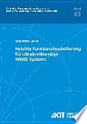 Hybride Funkkanalmodellierung für ultrabreitbandige MIMO-Systeme