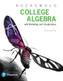 College Algebra with Modeling   Visualization