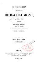 Book Mémoires secrets de Bachaumont de 1762 à 1787