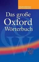 Das Gro E Oxford W Rterbuch F R Schule Und Beruf