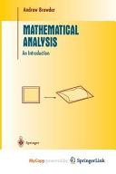 Mathematical Analysis
