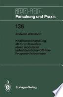 Kollisionsbehandlung als Grundbaustein eines modularen Industrieroboter-Off-line-Programmiersystems