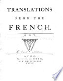 Translations from the French  by D Y