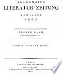 ALLGEMEINE LITERATUR-ZEITUNG VOM JAHRE 1803