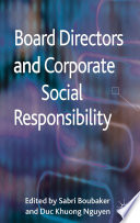 Board Directors and Corporate Social Responsibility