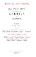 Bibliograf  a Hispanoamericana