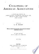 Cyclopedia of American Agriculture  Farm and community