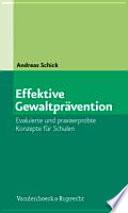 Effektive Gewaltprävention