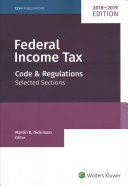 Federal Income Tax  Code and Regulations  Selected Sections  2018 2019