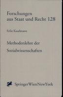 Methodenlehre der Sozialwissenschaften