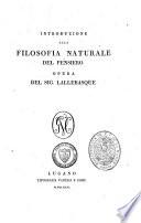Introduzione alla filosofia naturale del pensiero