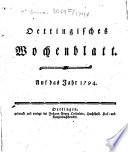 Oettingisches Wochenblatt
