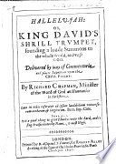 download ebook hallelu-jah: or, king davids shrill trumpet, sounding a loude summons to the whole world, to praise god, etc pdf epub